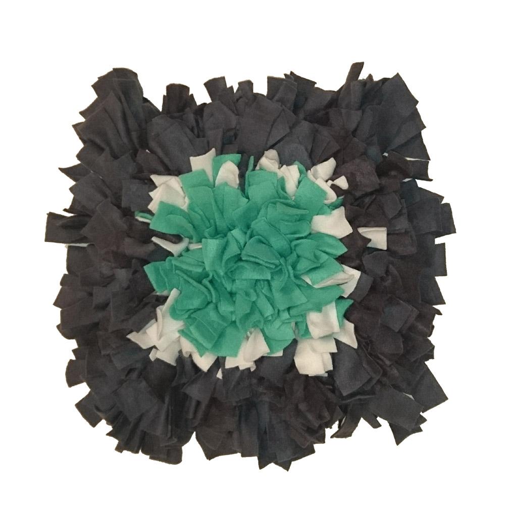 Schnüffelteppich, Blume grau, weiß,grün