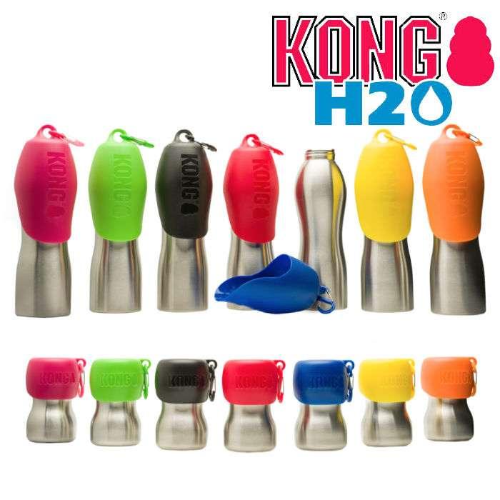 KONG Edelstahl Trinkflasche - 0,28ltr bzw. 0,75ltr