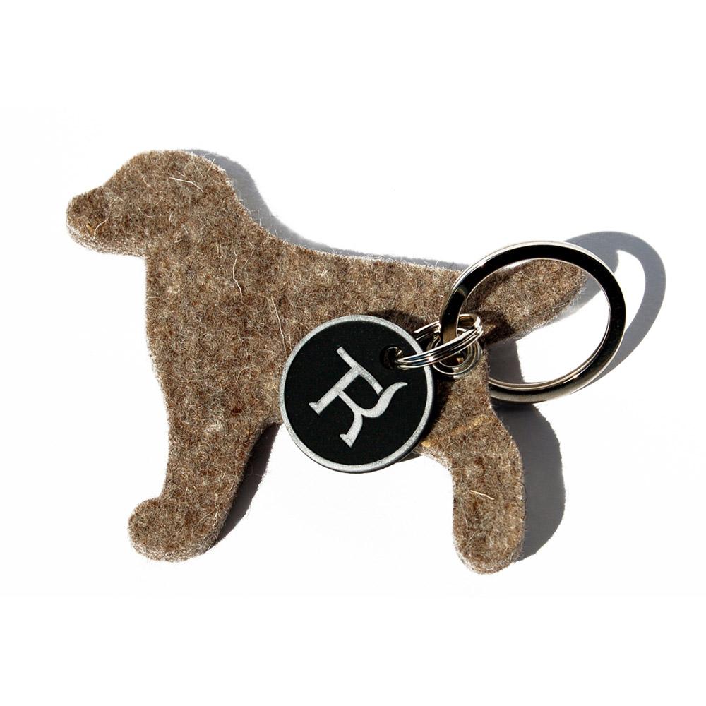 Schlüsselanhänger aus Filz - Hund