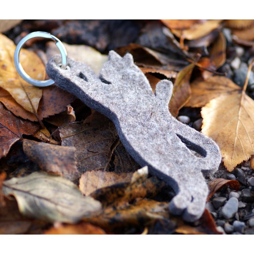 Schlüsselanhänger aus Filz - Katze