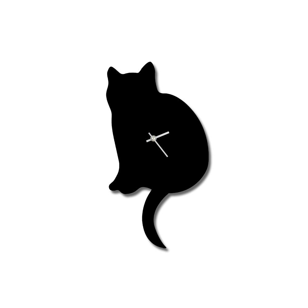 Katze Wanduhr
